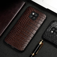 Phone Case For Huawei P20 P30 P10 Mate 20 Lite 10 9 Pro Real Crocodile Skin Abdomen Texture For Honor 8X Max V20 Nova 3 4 Cover