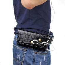 Men Phone Bags for Xiaomi redmi 3/ 3X/ 4/ Note 2 Small Mens Pouch 4.7/5.7 inch Belt Case Waist Bag Sony