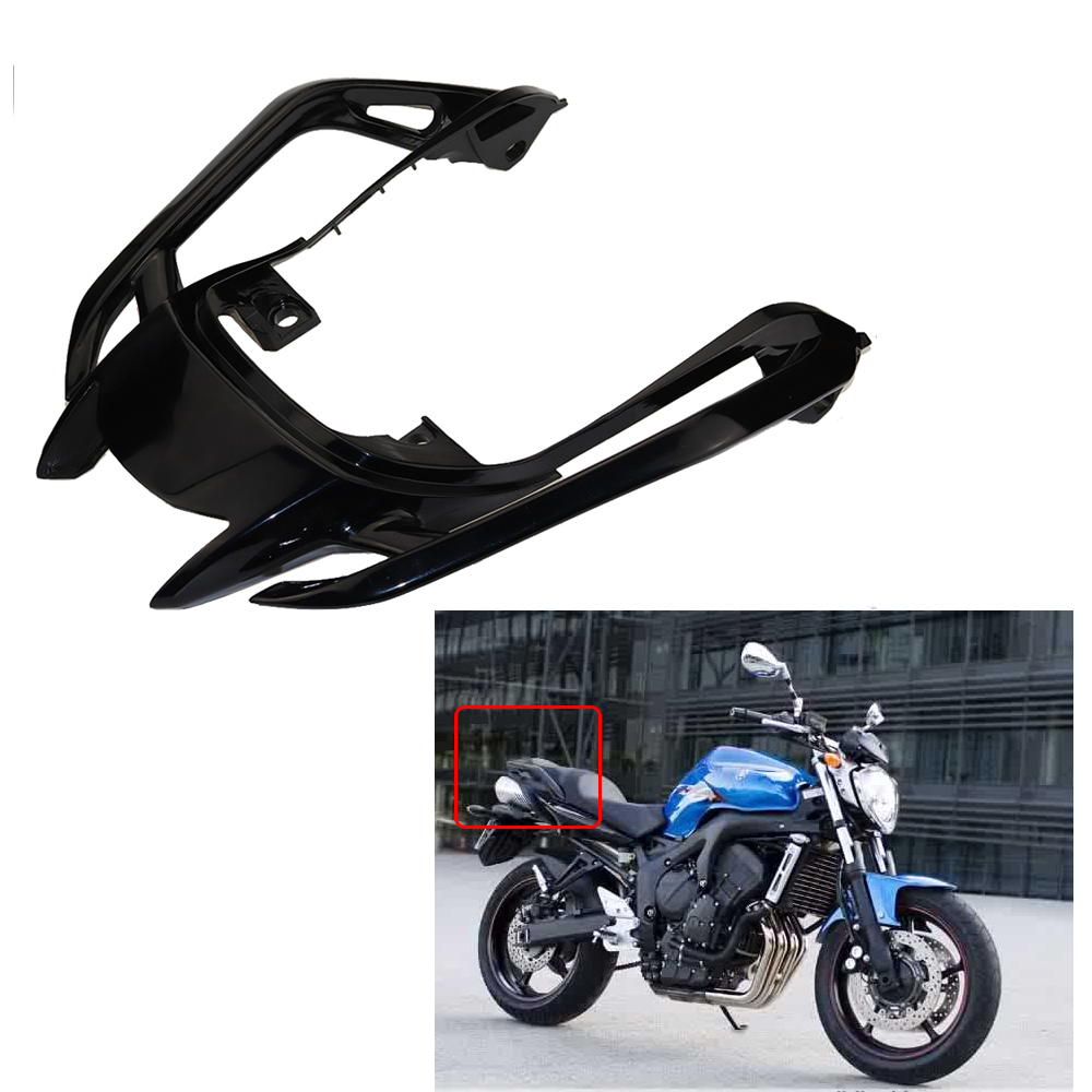 High Quality Tempered Plastic Black Motorcycle Rear Tail Plate Fairing Rear Seat Tail Fairing Cowl Cover For Yamaha FZ6N FZ6S for ktm 390 duke motorcycle leather pillon passenger rear seat black color