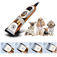 Professional Pet Hair Trimmer Electric Shaver 60W High Power Hair Cutting Machine Hair Remover Cat Dog Grooming Clipper +Blades