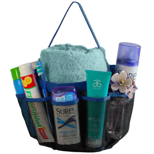 Shower Caddy Mesh 8 Pocket Portable Storage Bags Holders Quick Dry ...