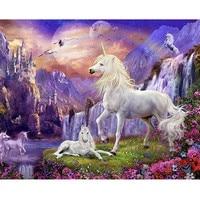 5D White Horse World Diy Diamond Painting Diamond Embroidery Mosaic Pasted Cross Stitch Handmade Diamond Painting