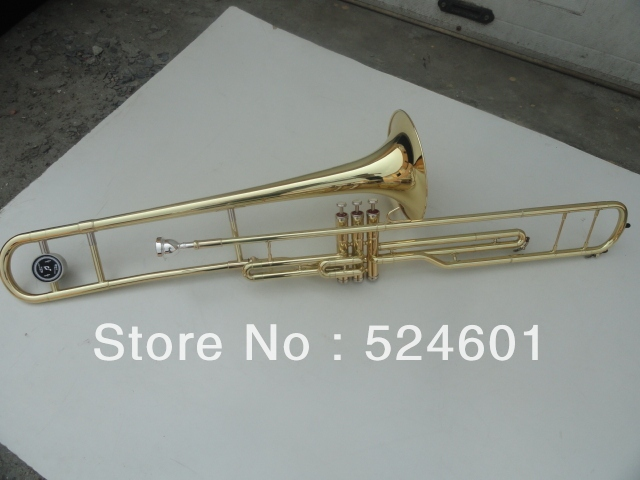 Cheap 3 Key Tenor Trombone 85 Alloy Copper Speaker Nickel Gold Plating Surfac Musicais Tuba corno frances doble trompa holton