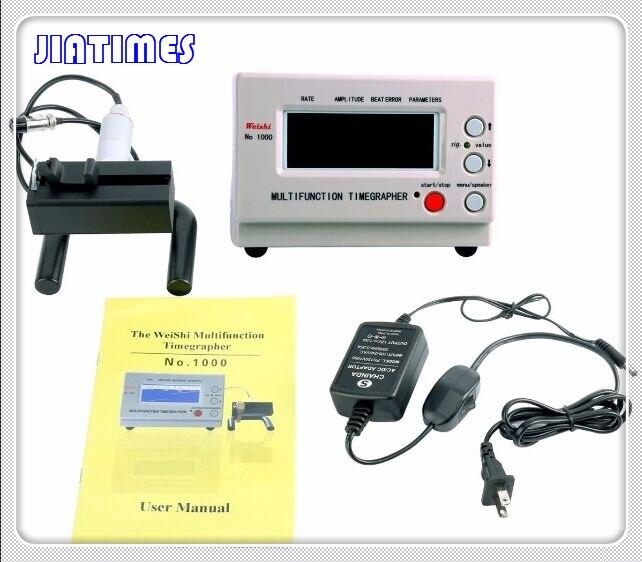 기계식 시계 및 포켓 weishi 시계 타이밍 기계 다기능 timegrapher no. 1000 + 1pc 평면 미네랄 유리