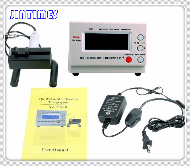 Montre mécanique et Poche Weishi Montre Timing Machine Multifonction Timegrapher NO 1000 + 1 pc Plat Verre Minéral