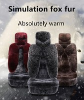 High Quality Luxury Imitation Fox Hair For General Car Cushion SUV Single Piece Furs Cushion Winter