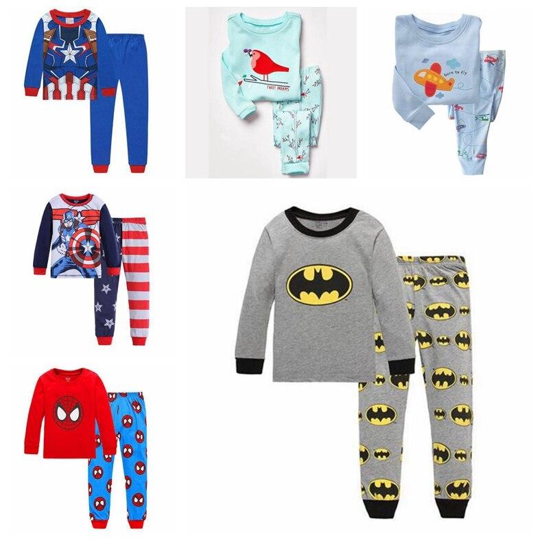 Trouser Nightwear Outfit Sleepwear Pajama 2-7Y Superman Children Kids Boys Top