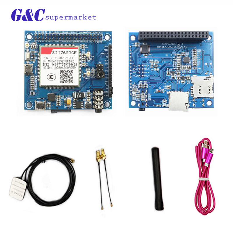 SIM7600CE GPRS/GSM GPS GNSS Extension Board for Raspberry Pi 2 3B B+ ZeroSIM7600CE GPRS/GSM GPS GNSS Extension Board for Raspberry Pi 2 3B B+ Zero
