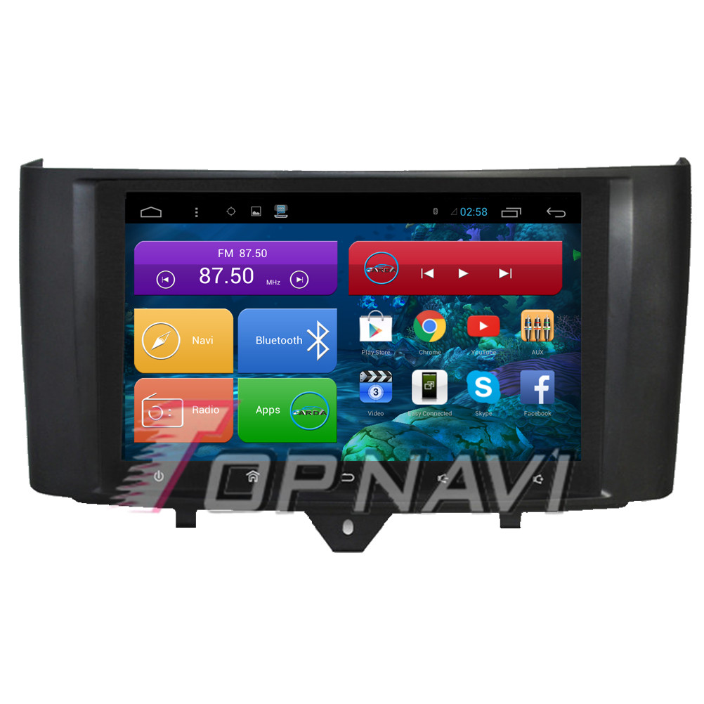 Free Shipping Quad Core Android 4.4 Car Radio for Smart 2012 2013 2014 2015 For Benz With Mirror Link GPS BT Map 16GB Flash