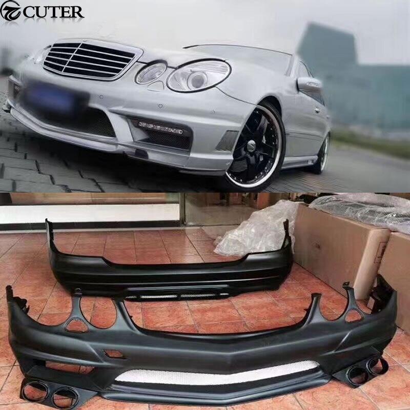 W211 E350 Комплект кузова FRP Неокрашенный передний бампер задний бампер сбоку юбки для Mercedes Benz w211 e280 Вальд тела комплект 05-10