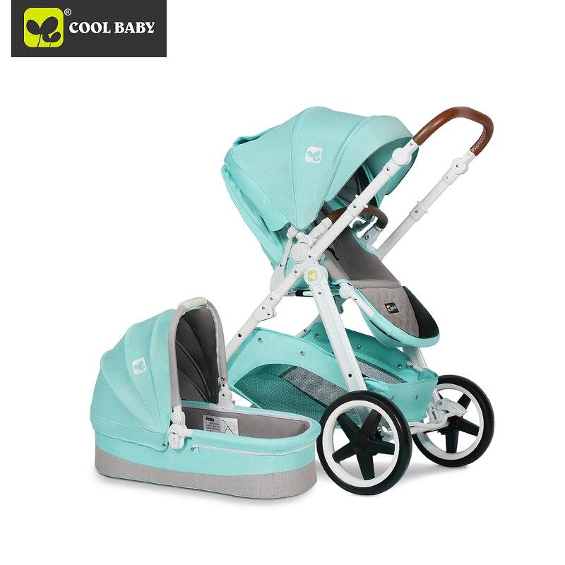 Anos de Uso do Bebê Gêmeos Carrinhos 0-4 Luz Dobrável