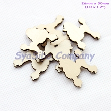 (100pcs/lot) 30MM Blank Rustic Wood Poodle Oranments Unfinished Wooden Dog Supply Cutout 1.2″-CT1424B