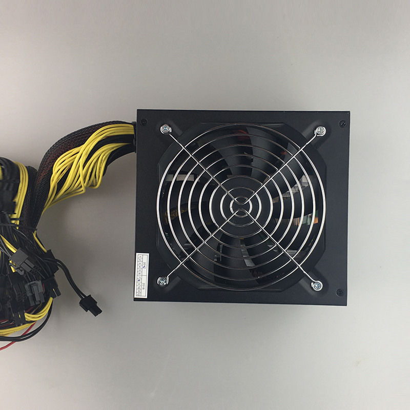 Купить с кэшбэком free ship 1600w power supply for 6 GPU ethereum Miner Power Supply For Bitcoin Miners support 6 graphics Card  RX470 RX480 RX570