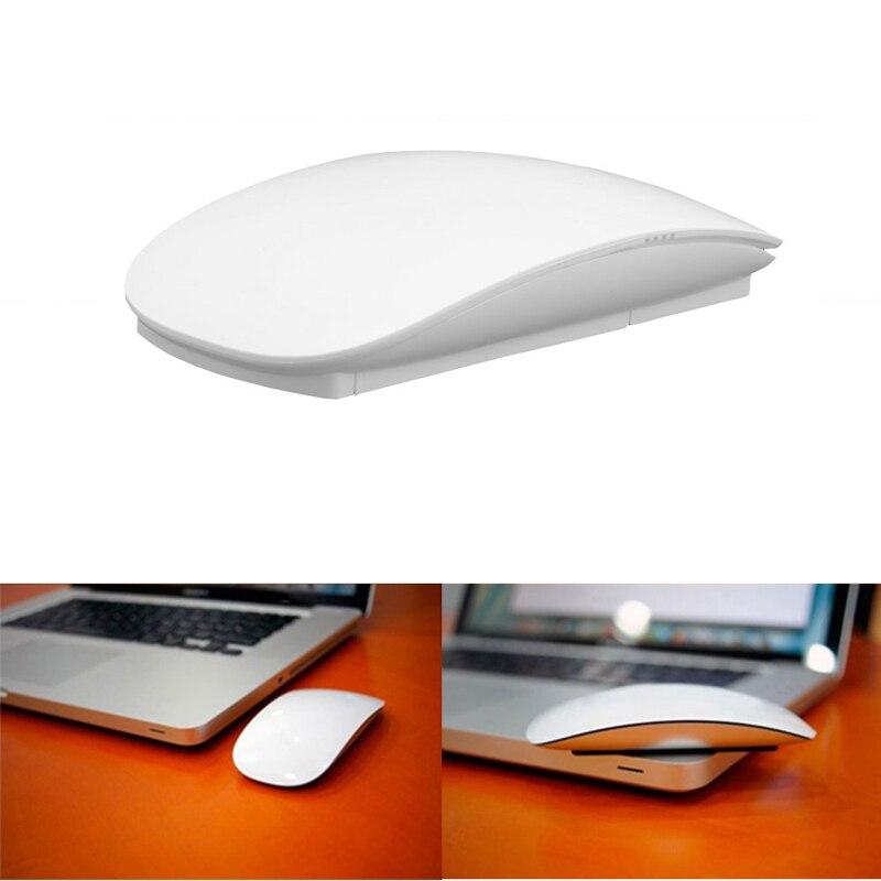 Óptico inalámbrico Multi-Touch Magic Mouse 2,4 GHz ratones para Windows en Mac OS blanco H029 #