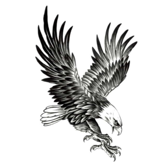 1pcs Cool Eagle Tattoo For Men Waterproof Temporary Tattoos Water
