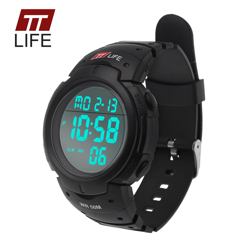 2016 New TTLIFE Brand Swim Outdoor Casual Male Digital Wristwatches Hot Men LED Digital Military Watches