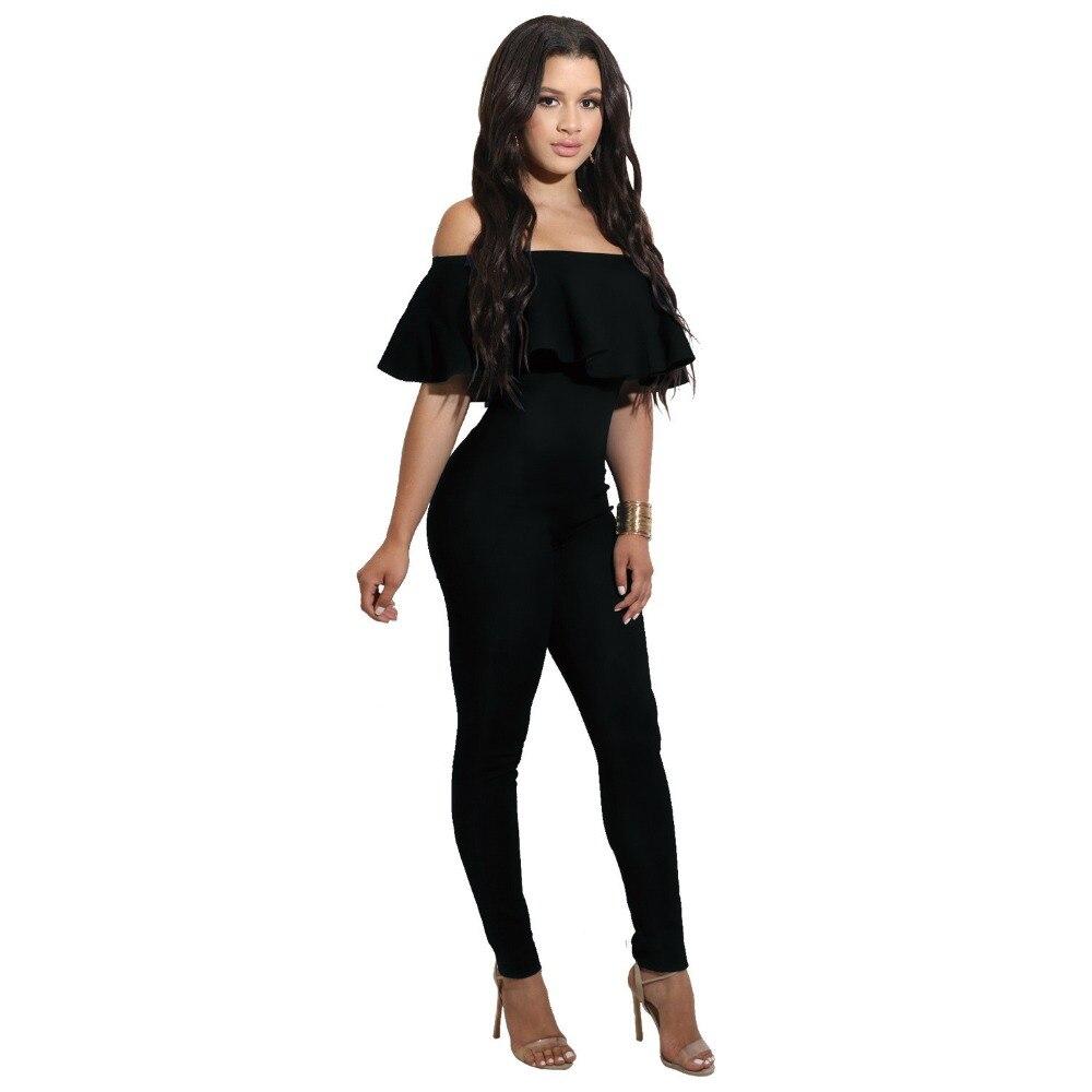 Excellent Plus Size Black Rompers Womens Jumpsuit Elegant Coveralls Side Pocket Loose Fitting Harem Romper ...