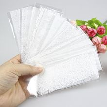 21 Pcs/Lot White Lace Nail Sticker Transfer Lace Floral Nail Art Transfer Foil Women Nail Gel Decoration Manicure Tool WY581(China)