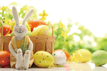 Laeacco Colorful Eggs Easter Rabbit Baby Children Party Photography Background Customized Photographic Backdrop For Photo Studio laeacco easter haystack flowers chicks easter lamp baby children photography background customized backdrop for photo studio