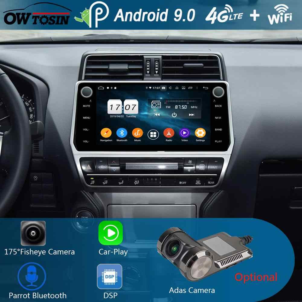 "10.1 ""IPS Android 9.0 8 Core 4G + 64G Auto Multimedia Speler Voor Toyota Land Cruiser Prado 2018 2019 GPS Radio DSP CarPlay Papegaai BT"