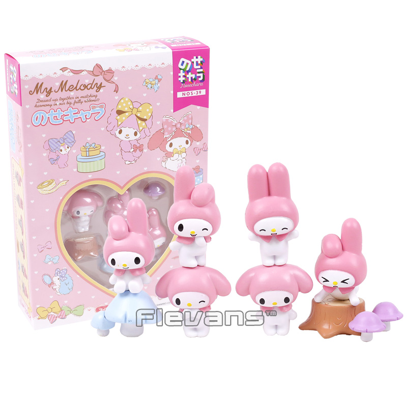 Cartoon Cute Lovely Rabbit My Melody Mini PVC Action Figures Collectible Model Toys Gift For Girls Kids