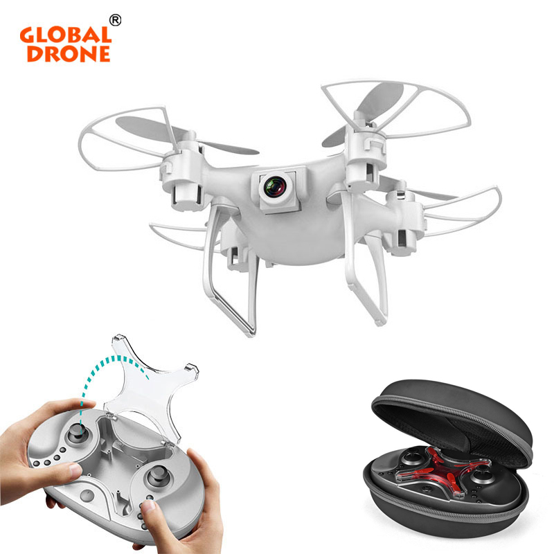 Global Drone GW009C-1S bolsillo Selfie Micro Drones altitud helicóptero Mini Drone con cámara Quadrocopter
