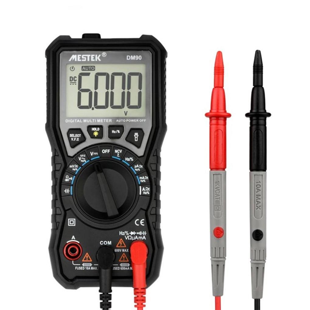 MESTEK Mini Digital Multimeter Auto Range AC DC Voltage Current Frequency Capacitance NCV Multi Meter Tester цена