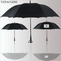 Creative black car logo Mercedes umbrella reinforcement windproof 8 bone long handle umbrella golf umbrella