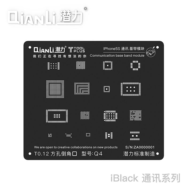 Aletler'ten Elektrikli Alet Setleri'de Yeni evrensel kare delik 3D Siyah Reball Stencil baseband çelik ızgara için iPhone 8 7 6s 6 5 s iletişim baseband modülü title=