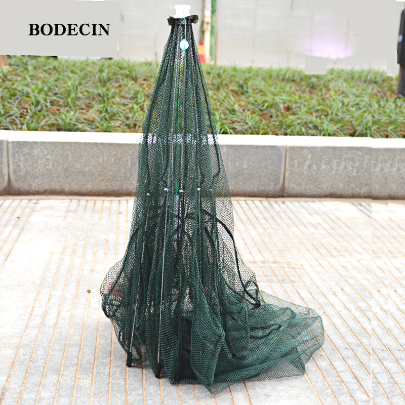 8 Hole Fishing Net Folded Portable Hexagon Fish Network Casting Nets Crayfish Shrimp Catcher Tank Trap China Cages Mesh Cheap (2)