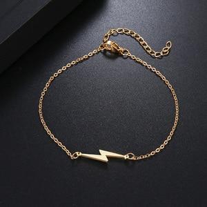 Женский браслет DOTIFI, браслет из нержавеющей стали золотистого и серебристого цвета с Lightning