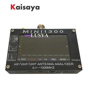 "Image 5 - Mini1300 4.3 ""Touch LCD 0.1 1300MHz 13.GHz UV HF VHF UHF ANT SWRเครื่องวิเคราะห์เสาอากาศ + แบตเตอรี่ชาร์จL3 003"