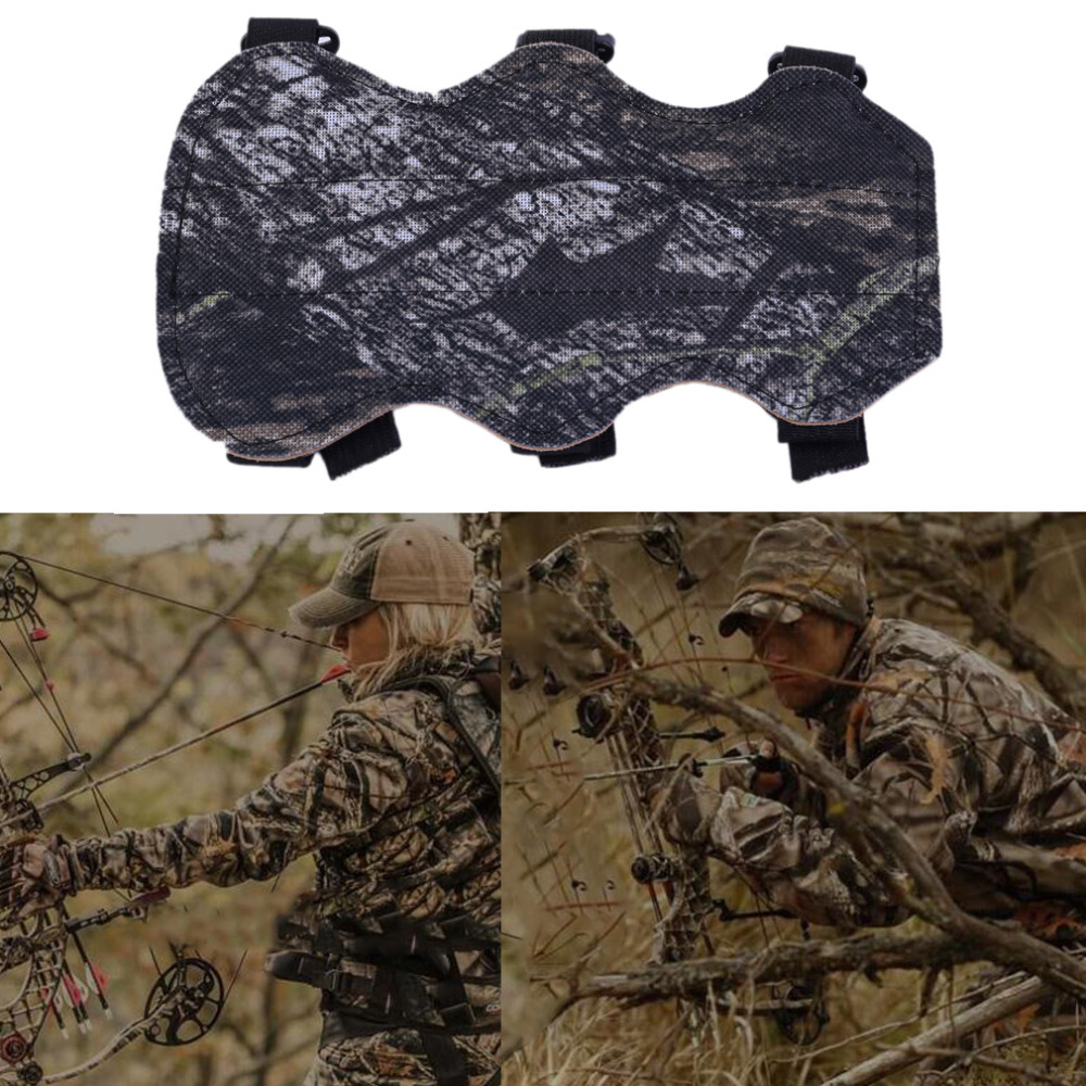 19cm*10.5m Archery Bow Arm Guard Protection Forearm Safe 3-Strap Camo Leather New Arrival
