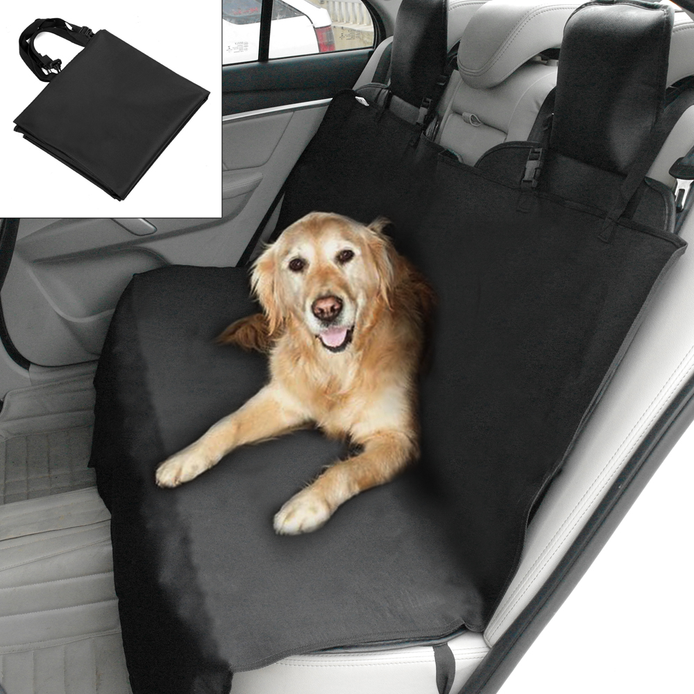 Dog Car Seat Cover Mat for All Vehicles with Side Flaps Bench Protector Pet Hammock Suv Van Anchors Non Slip and Waterproof
