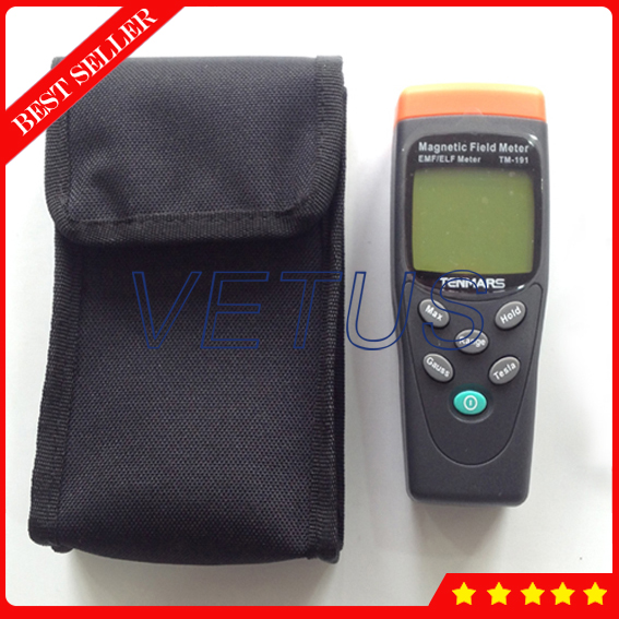 TM 191 Single Axis electromagnetic radiation detector Portable EMF Meter for power line refrigerator video device Field tester