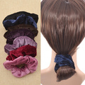 Hair Jewelry Fashion Elastic Hair Band Headband Velvet Elastic Hair Scrunchie Ponytail Holder Bun Clip Scarf Hair Accessories