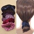Joyería de Moda el pelo Elástico Del Pelo Venda de La Venda de Terciopelo Elástico Scrunchie Cola de Caballo del Clip del Bollo Del Pelo Accesorios Para el Cabello Bufanda