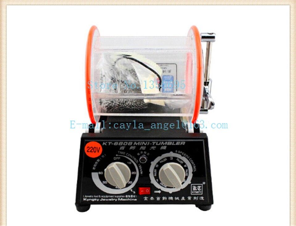 Bijoux Machine polisseuse Rotative, tambour de polissage machine kt6808 bijoux équipement