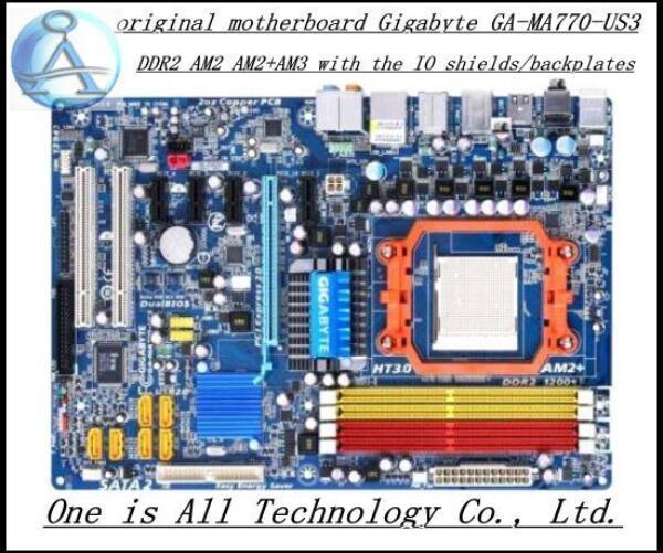 MA770-US3 материнская плата для Gigabyte GA-MA770-US3 DDR2 AM2 AM2 + AM3 motherboard твердотельный источник Бесплатная доставка