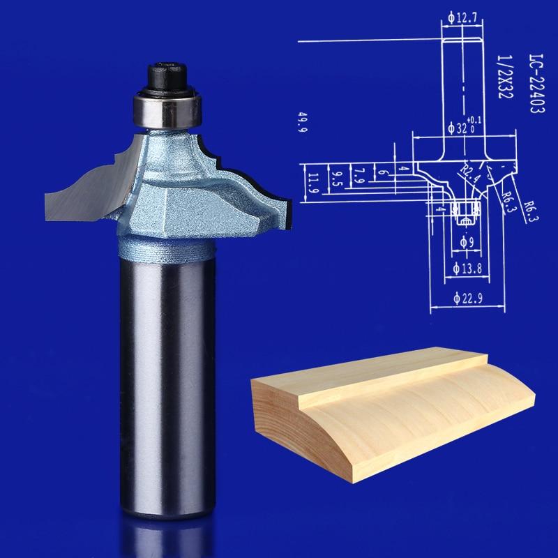1PCS 1/2*63.8mm  1/2*45mm  1/2*32mm Slot Cutters Wood Router Bits Table Cutter Slotting Edge Endmill 1 2 5 8 round nose bit for wood slotting milling cutters woodworking router bits