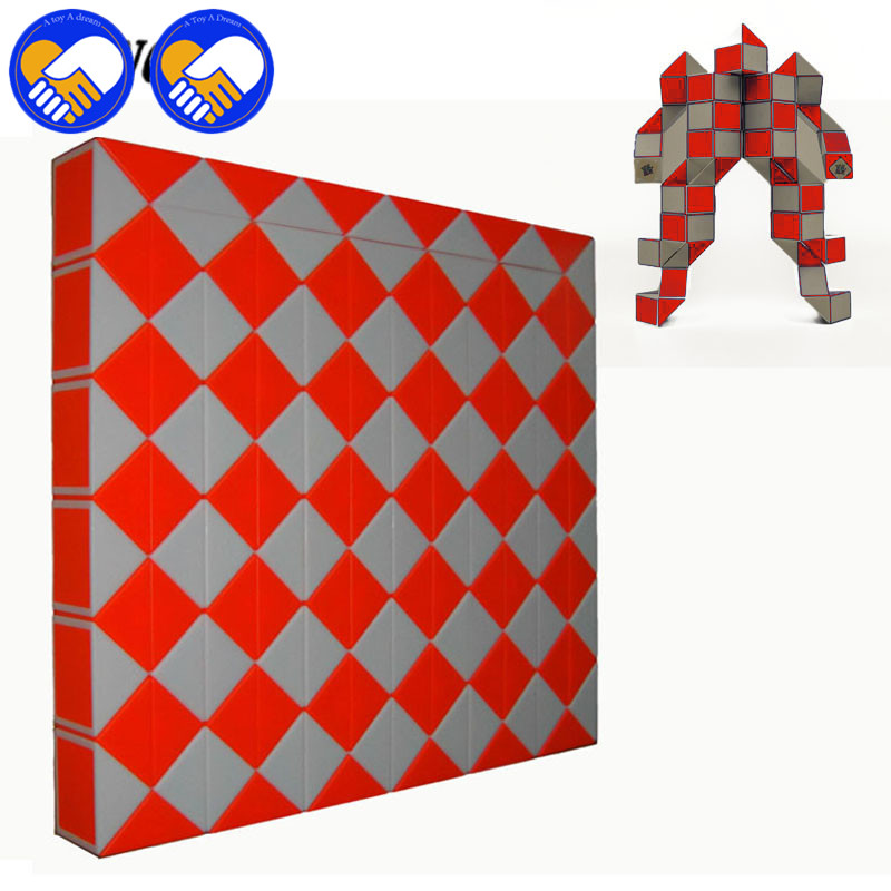 A TOY A DREAM Newest 6 Colors Funny Professional Speed Magic Snake Shape Toys Game Twist Cube Puzzle 144 Steps Toys Gift For Kid