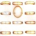 100 Unids Un Montón de Oro de Aluminio de Plata Anillos para Mujeres de Los Hombres de Diseño Simple Al Por Mayor de Joyería Anel