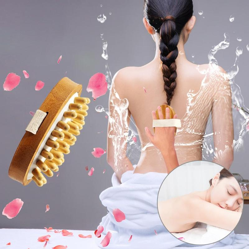 1pc Wooden Face Body Cleaning Brush Bath Shower Bamboo Massage Body Brushes Skin Care Tools Bathroom Accessories
