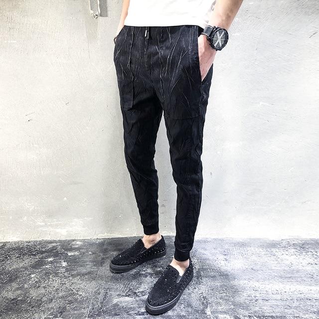 9151c9d10e Quality Fashion Designer Pants Men 2018 Spring New Brand Casual Harem Pants  Hip Hop Streetwear Slim Fit Black Mens Trousers 5XL