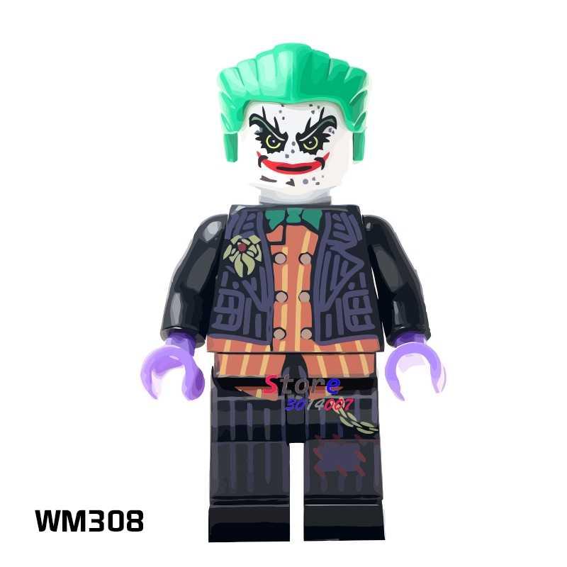 1 Buah Model Blok Bangunan Aksi Superhero Joker Hobi Anak Mainan Kit Klasik Ide Diy Mainan untuk Anak-anak Hadiah