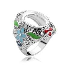 Винтажное кольцо с родиевым покрытием «сделай сам» модное красивым
