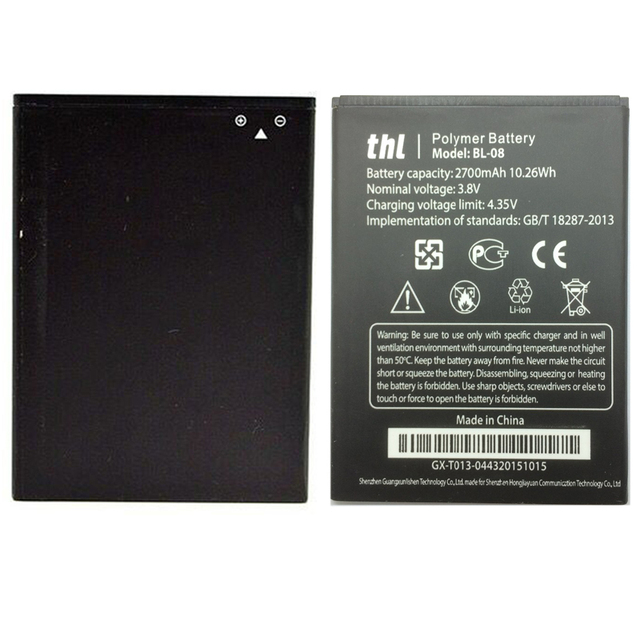 New Original BL08 Battery For THL 2015 2015A BL 08 BL-08 High Quality Android Cell Phone Replacement Batteria Li-ion Batteries