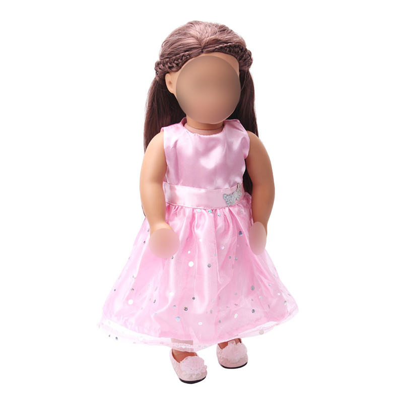 18 inch Girls doll dress Princess evening gown American new born clothes Baby toys fit 43 cm baby accessories c73 in Dolls Accessories from Toys Hobbies