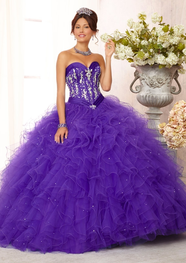 Purple and Green Masquerade Dresses