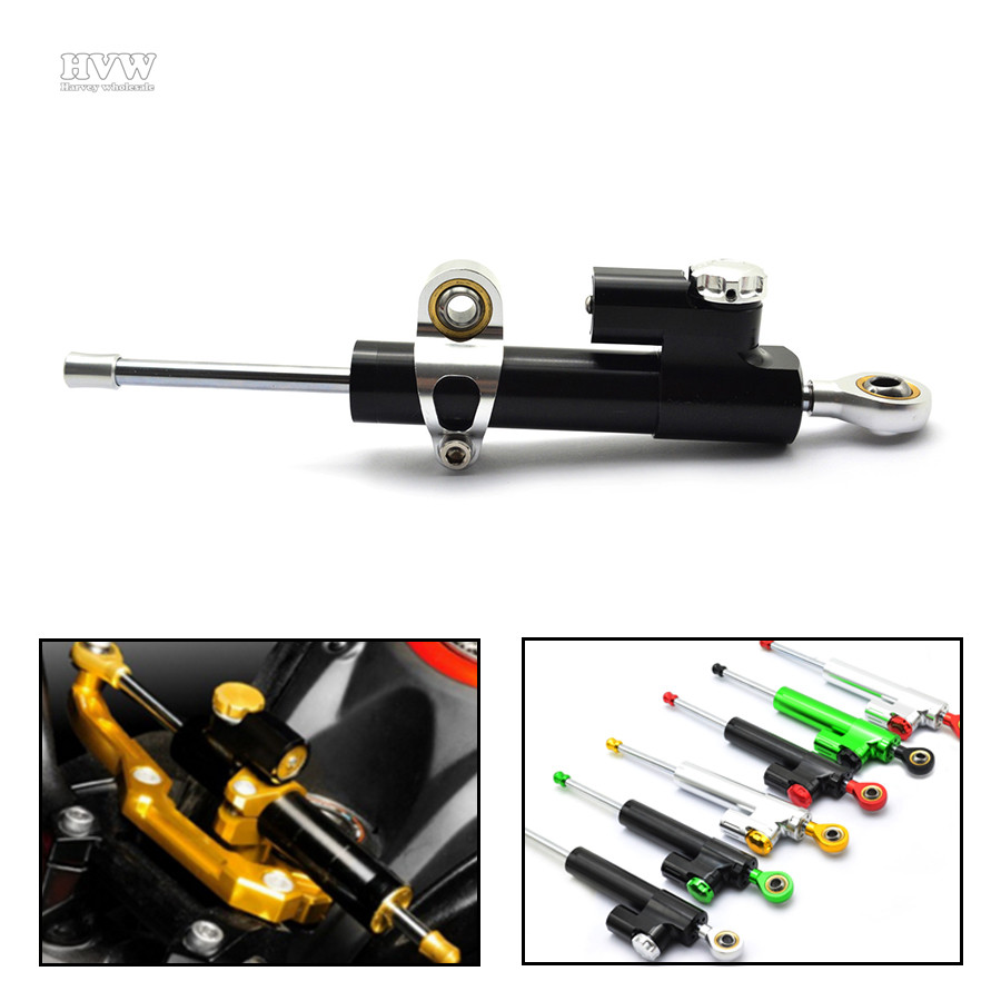for MT07 MT09 Universal CNC aluminum Steering Stabilizer Damper Linear Reversed Safety Control for Yamaha FZ1 FZ6 YZF R1 R6 universal motorcycle cnc damper steering stabilizer linear reversed safety control for yamaha fz6 r6 fz1 r1 ybr 125 r25 xj6 r25